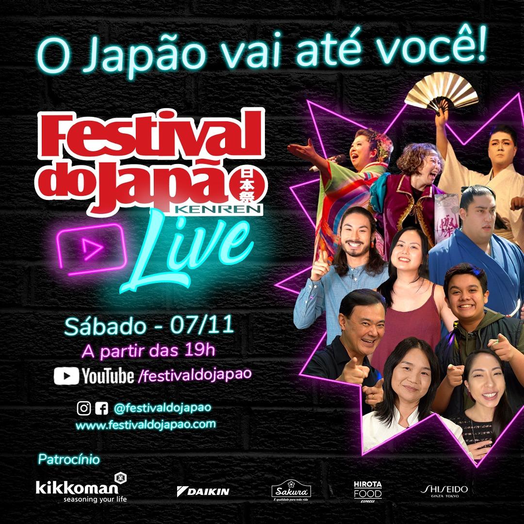 Festival do Japão terá live no dia 07 de novembro!